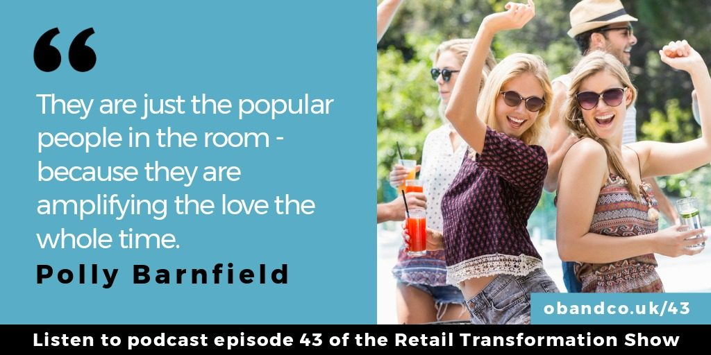They are just the popular people in the room because they are amplifying the love the whole time - Polly Barnfield quote